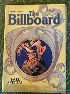 """THE BILLBOARD Aug 13, 1927 """"Fall Special"""" 179 pps Louis Armstrong,MARX BROTHERS"""