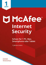 McAfee Internet Security 2021 1 PC 1 Jahr   VOLLVERSION / Upgrade   ☀️☀️☀️