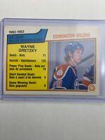 1983-84 O-Pee-Chee 1982–1983 Goal Leader #22 Wayne Gretzky OPC    -Minor Crease-