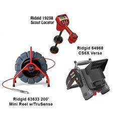 Ridgid 200 Mini Reel 63633 Navitrack Scout Locator 19238 Cs6x Versa 64968