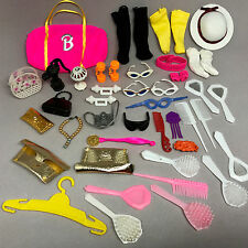 Barbie Doll Accessory Lot 38 Sunglasses Purses Vanity Necklace Hat Socks Camera