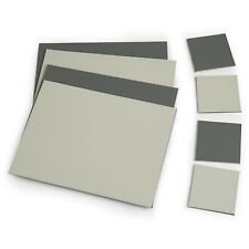 VonShef 8pc Faux Leather Placemat and Coaster Set Dark Grey & Light Grey