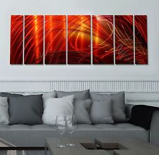 Statements2000 3D Metal Wall Art Panels Abstract Orange Red Decor Jon Allen