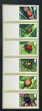 POST & GO (2016): LADYBIRDS - STRIP OF SIX BLANK LABELS