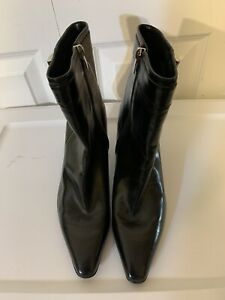 "New ENZO ANGIOLINI Eababy Ankle Boot Booties Size 8 M Black Point Toe 3"" Heel"