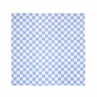 Vogue Chef Tea Towel Blue Checked Kitchen Catering Cotton Cloth Linen Absorbent