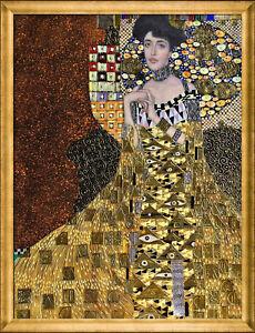 poster print for glass frame Gustav Klimt woman gold Vintage Art Painting