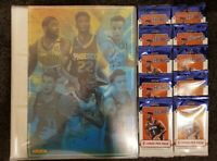 2019/20 Panini Hoops NBA Basketball Cards - 10 packets (50 cards) + Binder