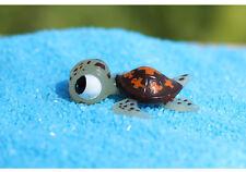 2 pcs Miniature Cute Sea Turtle Fairy Garden Animal Ornament Terrarium Accessory