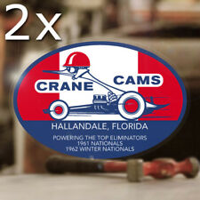 2x Stück Crane Cams Aufkleber Sticker Autocollante Old School Hot Rod MOON ✔