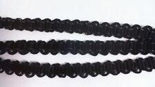 Porter Valmic Scroll Gimp Braid Trim - 25 Meters - 1 Break - Black #22D442