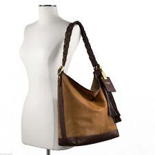 NWT COACH LEGACY Haircalf Leather CAMEL Lrg Duffle Shoulder Bag Purse NEW $1400