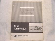 MASSEY FERGUSON MF 60 ROTARY CUTTER OPERATOR MANUAL