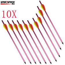 "10 Pcs Crossbow Hunting 15"" Aluminum Arrows/Bolts Shaft w/Steel Point ARCHERY"
