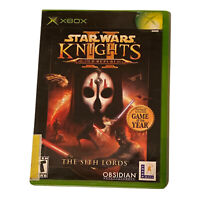 Star Wars: Knights of the Old Republic II 2 The Sith Lords (Xbox, 2004 Complete)