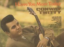 Conway Twitty I Love You More Today White Label Promo 12inch Vinyl Stereo