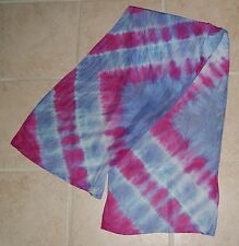 "habotai silk scarf hand dyed 14"" x 56""  washable silk! (207CL141FC2)"