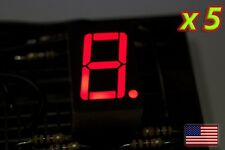 [5x] RED 7 Segment LED Display Common Cathode - 0.75 in