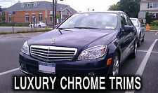 Mercedes C Class W204 Chrome Headlight Trim Bezels by Luxury Trims 2008-2011