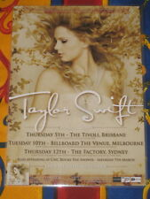 Taylor Swift  - Australian Fearless  Tour 2009  -  Laminated Promo Poster