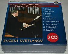 SVETLANOV piano CHOPIN DEBUSSY FIBICH RAVEL METNER RACHMANINOV HANDEL FRANCK 7CD