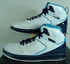 New Mens 11 NIKE Jordan Sixty Club White Blue Leather Basketball Shoes $115