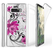 Samsung Galaxy Note 8 Lotus Tri Max 360 Sim Clear Cell Phone Case Holder Transpa