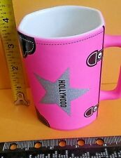 PINK GLITTER HOLLYWOOD Coffee Mug Cup Collectable PURSE THEME DISHWASH MICROWAVE