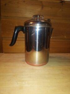 VINTAGE REVERE WARE RARE STOVE TOP 10 CUP COPPER CLAD DRIP-O-LATER COFFEE POT
