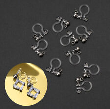10Pcs Invisible Clip on Earring Converter Allergy-Free Resin Non Pierced Earring