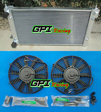 2 row ALUMINUM RADIATOR&FANS FOR VW GOLF/RABBIT/SCIROCCO GTI MK1/2 8V/16V M/T