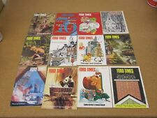 lot 12 1975 FORD TIMES magazine complete year mustang ltd pinto lifestyle