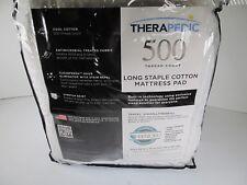 Therapedic® 500-Thread-Count Cotton Full Mattress Pad in White