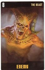 Doctor Who the Card Game 2009 c7e - 3 Art Cards; the Beast, Minotaur, Saturnyns