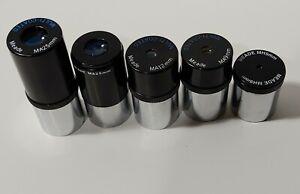 Meade Lot 5 Telescope Eyepiece Telescope Lens Multi-Coated, MA12mm, 25mm, & more