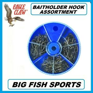 EAGLE CLAW DIAL PACK BAITHOLDER HOOK ASSORTMENT 150 PC. #05010-002 Lake & Stream
