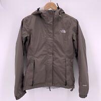 The North Face Womens Small Windbreaker Jacket Hooded Beige Winter Coat