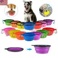 Travel Portable Collapsible Pet Dog Bowl for Food & Water Bowls Dish Foldable