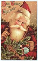 VTG Postcard Christmas Reproduction German 1890s Recycled Toys Armful A7