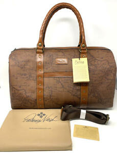 New~Patricia Nash Portofino Collection Coated Canvas Leather Milano Duffel Map