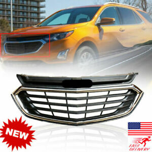 Mesh Chrome Front Bumper Upper Grille Grill For Chevrolet Equinox 2018 2019 2020