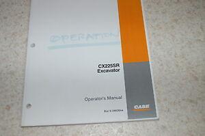 CUSTODIA CX225SR Crawler Excavator Owner Operator Maintenance Manual 2002