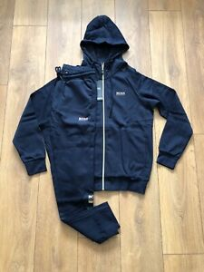 Hugo boss tracksuit Navy and Gold size M Regular fit zipped Top and bottoms