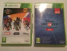 XBOX 360 GAME SOFTWARE DISNEY INFINITY VERSIONS 2.0 COMPLETE & 3.0 BOXED PAL
