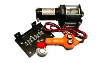 12V 2500 LB ATV WINCH KIT 12 VOLT RECOVERY TOWING TRUCK TRAILER BOAT