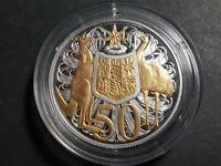 2016 Australian 50 cents Gold plated Silver 50 years of Decimal currency