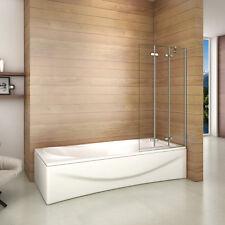 1000x1400mm 3 Fold Folding Bath Shower Screen Modern Hinge Glass Panel