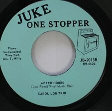 Jazz Nm! 45 Carol Lou Trio - After Hours / Soft Summer Breeze & Canadian Sunset