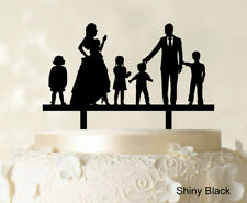 """Personalized Family Cake Topper Custom Silhouette Wedding Cake-b45"
