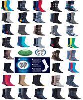 3 Pairs  Mens SockShop Cotton Honeycomb Top Gentle Grip Socks  UK 6-11 EU 39-45